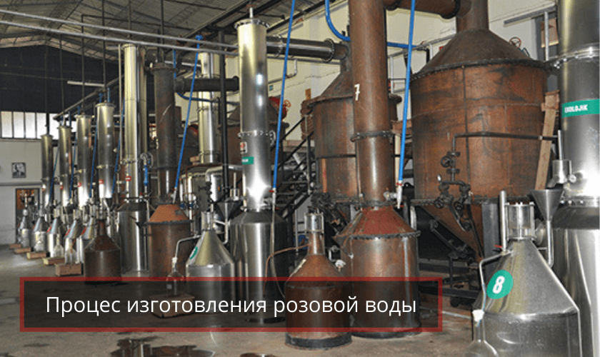 Изготовление турецкой розовой воды в Турции