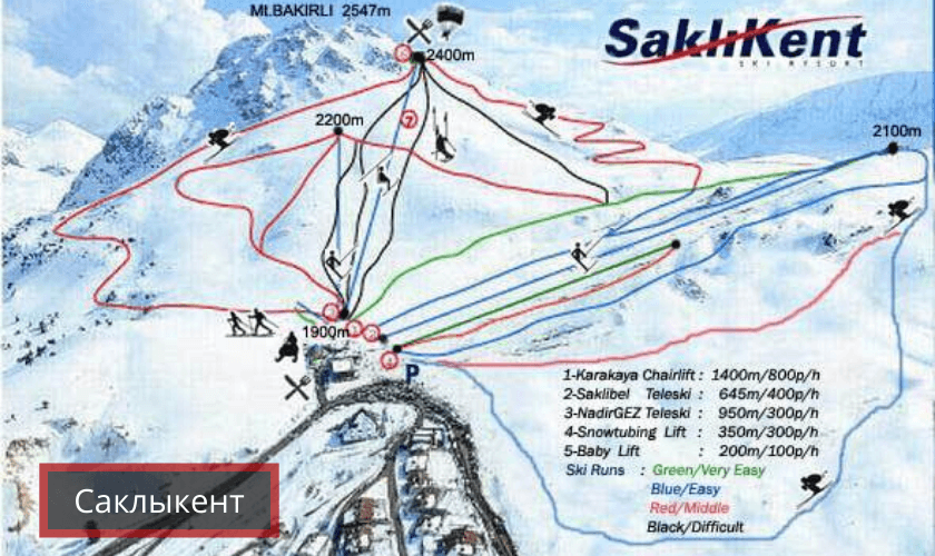 Саклыкент - горнолыжный курорт Турции