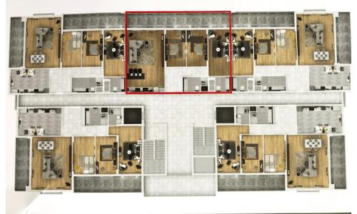 квартиры на этаже тип С
