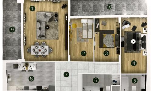 план квартиры жилого комплекса тип А