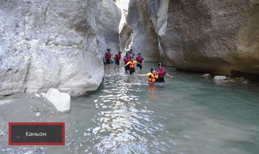 Экстремальные лучшие места для отдыха в Турции: каньоны